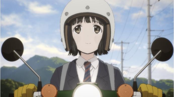 「スーパーカブ」親も友達もいない女子高生・小熊は、ある日1台の古びたバイクに出会う 第1話先行カット